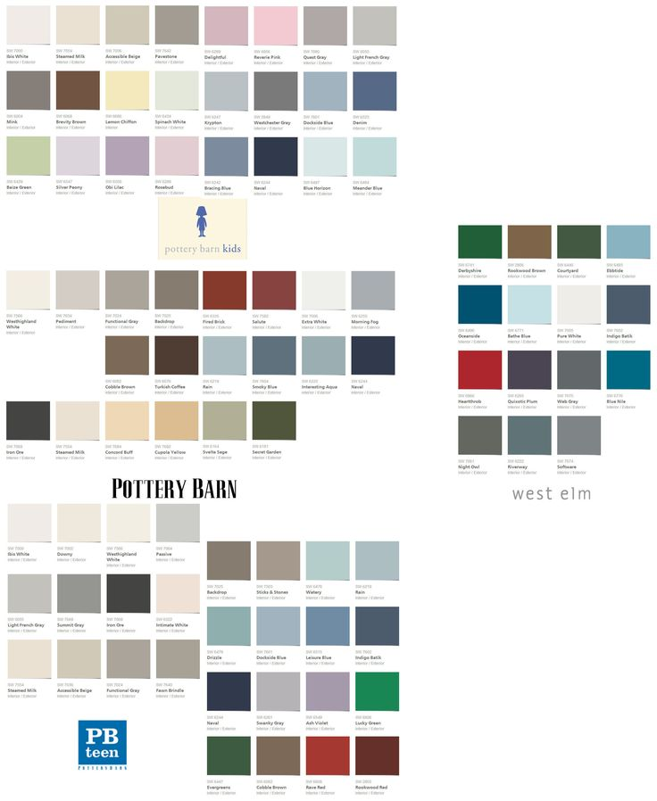 Pottery Barn Furniture Colors: Pottery Barn Colors