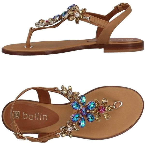 Ballin Toe Strap Sandal ($359) ❤ liked on Polyvore featuring shoes, sandals, camel, toe thong sandals, flat shoes, toe thongs, flat sandals and buckle shoes