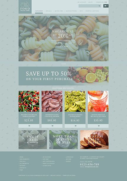 Food Online Store #ZenCart #template. #themes #business #ecommerce #webtemplates