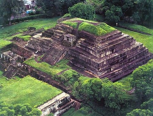 "Tazumal is a Pre-Columbian Maya archeological site in Chalchuapa, El Salvador. Tazumal means, ""the place where the victims were burned,"" in K'iche'."
