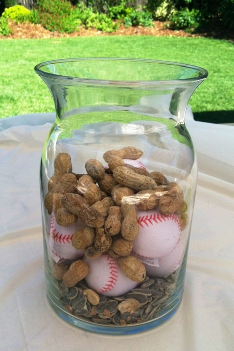 baseball birthday party centerpiece