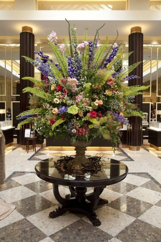 Hotel Foyer Table : Best large floral arrangements images on pinterest