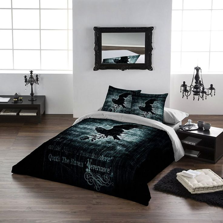 Alchemy Nevermore Double Duvet Set. (Also in Single, King Size / Queen Size and Super King Size) From ANGEL CLOTHING