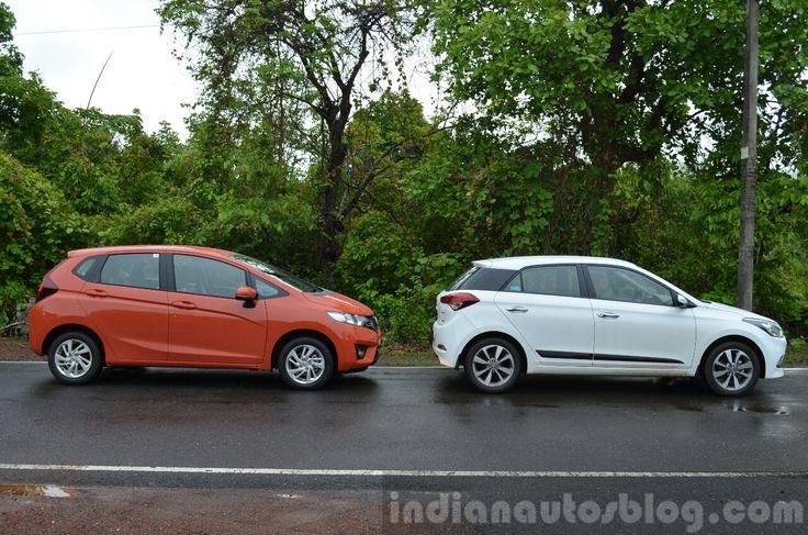 #Honda #Jazz vs #Hyundai #Elite #i20 side comparison -