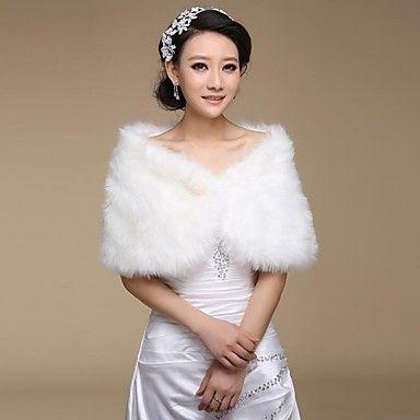 faux fur bruiloft sjaal (meer kleuren) – EUR € 7.05