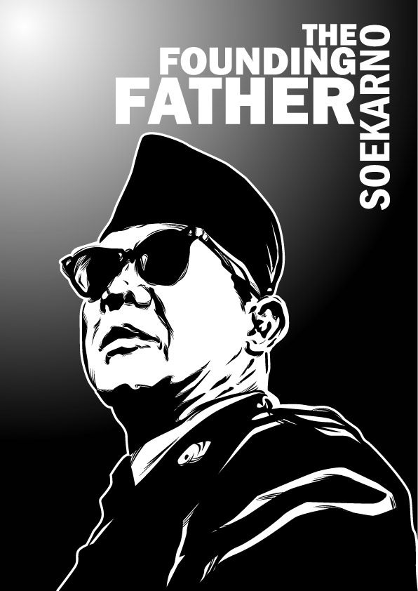 Soekarno -The Founding Father by astayoga.deviantart.com on @DeviantArt  Mantab Cak..