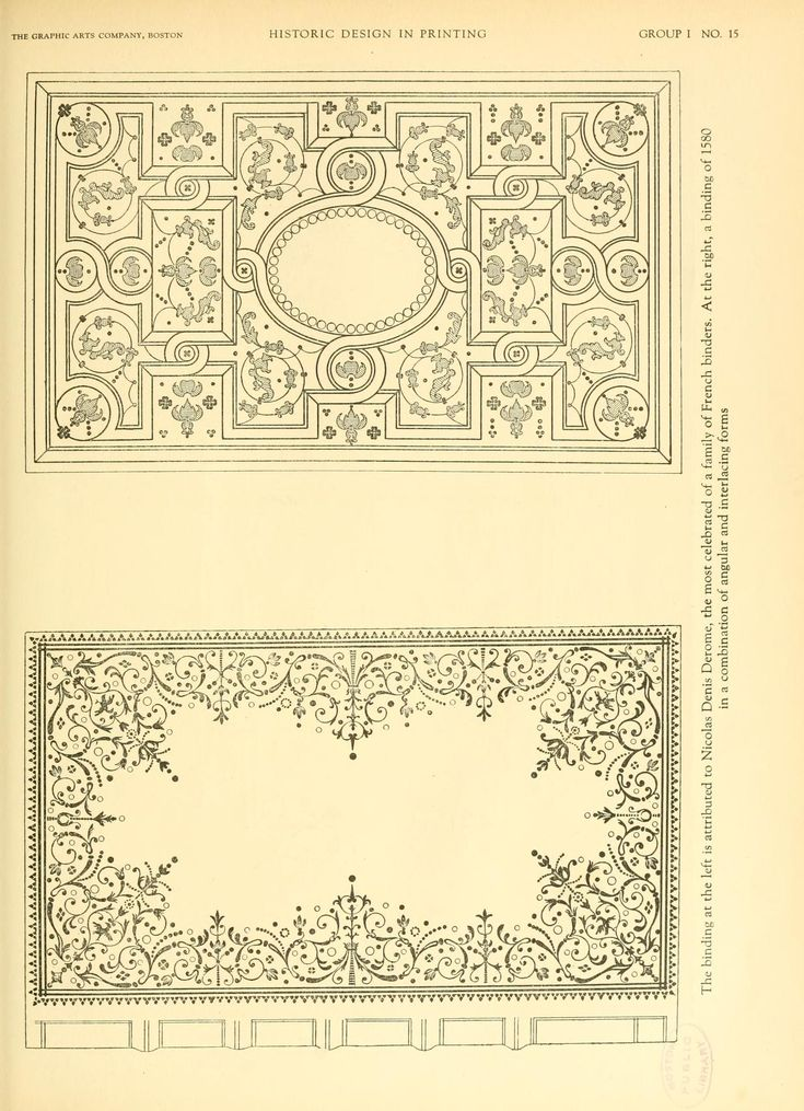 Historic design in printing; reproductions of b...