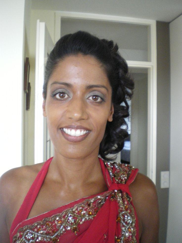 donkere huid bruid make-up
