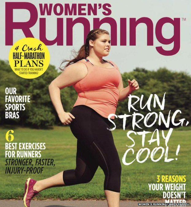 Women's Running August cover. A great reminder that all we need is to just start.