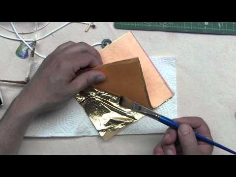 How to Apply Gold Leaf to  Watercolor Paper Jewelry