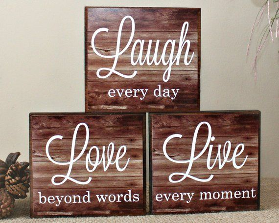 Live Laugh Love Wood Sign Live Every Moment Laugh Every Day Etsy Love Wood Sign 4x4 Wood Crafts Diy Wood Signs,Baby Shower Decorations For Girl Elephant Theme