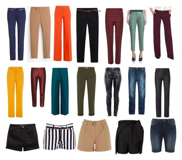 DC trousers A by jesmondee on Polyvore featuring White House Black Market, Versace, Oasis, Diane Von Furstenberg, Tory Burch, Wood Wood, Silver Jeans Co., H&M, Maison Margiela and The Limited