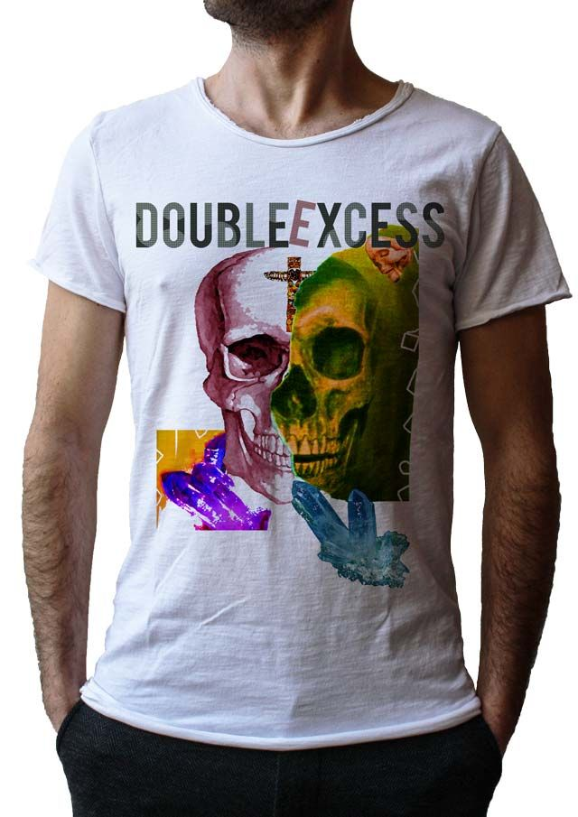 Men's T-Shirt SPIRITUAL YELLOW SKULL - Made in Italy - 100% Cotton - SKULL COLLECTION http://www.doubleexcess.com/
