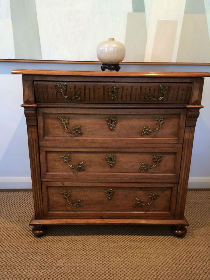 Antique french oak chest of drawers ormolu 1850 s