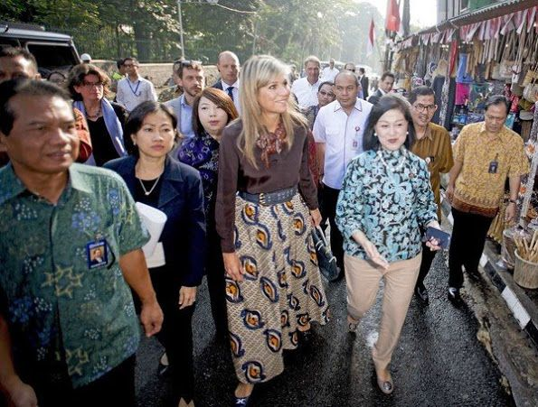 Queen Maxima of the Netherlands visits Indonesia