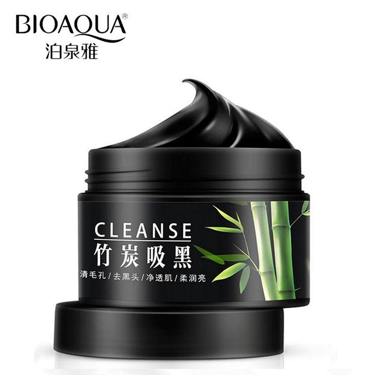 BIOAQUA Marke Gesichtsmasken Entfernen Mitesser Akne Narben Behandlung Hautpflege Schrumpfen Poren Bleaching Feuchtigkeitsspendende Schwarze Maske Creme