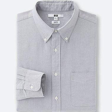Men Oxford Slim Fit Long Sleeve Shirt Gray Rubashki Pinterest
