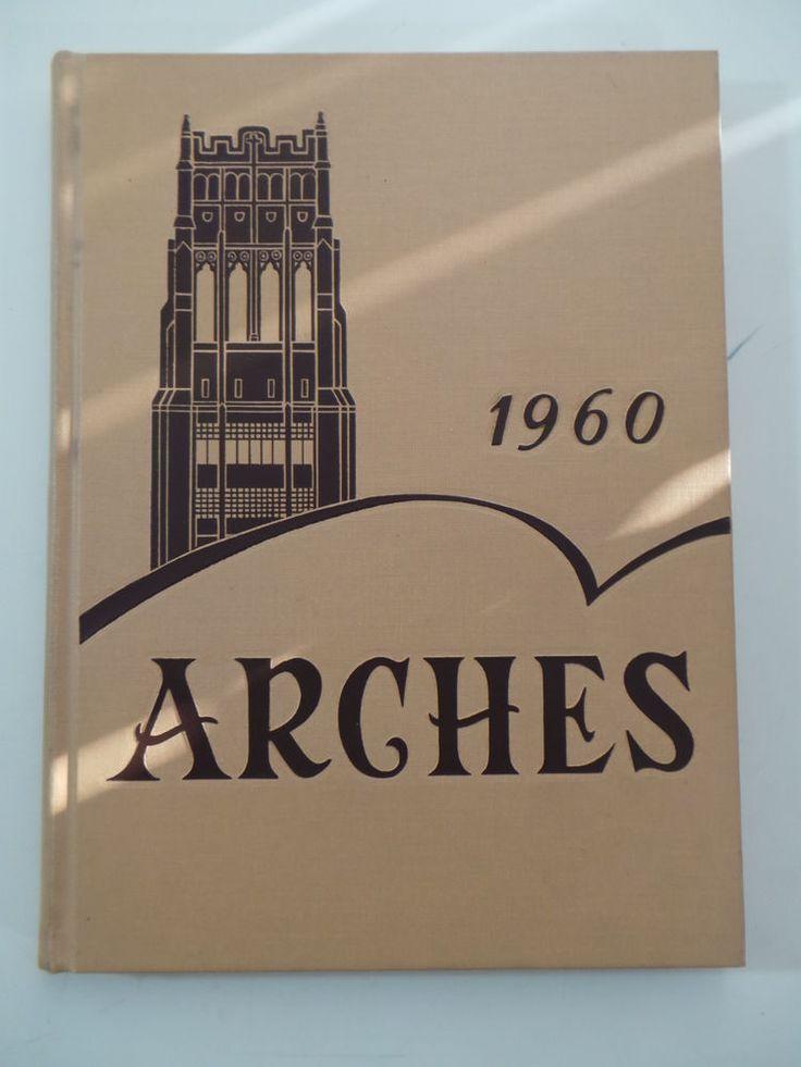 Blau Weiß Schlafzimmer · 1960 Mount Mary College Milwaukee Wisconsin  Original YEARBOOK Annual Arches