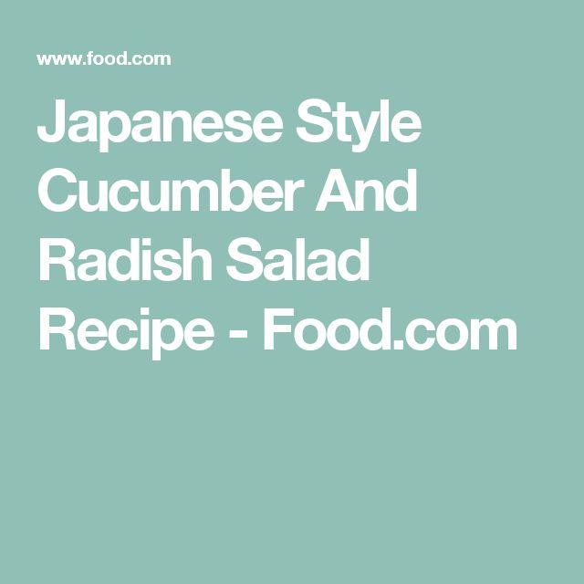 Japanese Style Cucumber And Radish Salad Recipe - Food.com