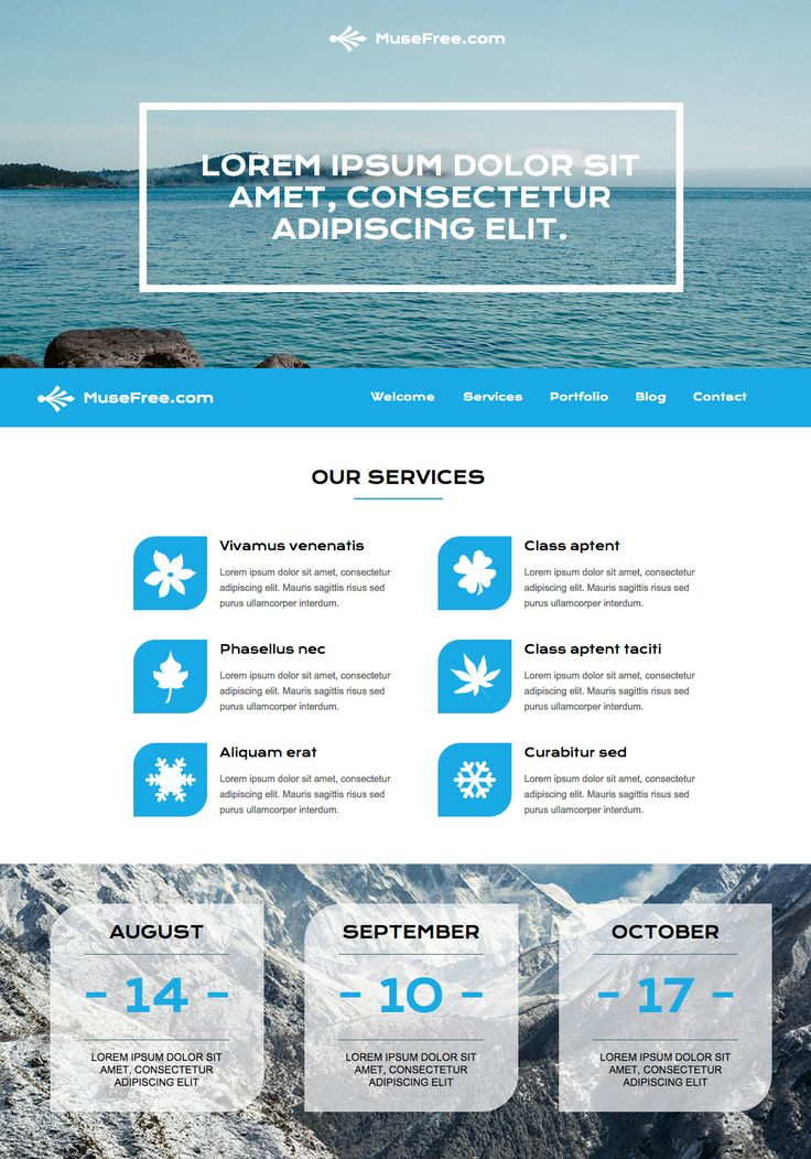 Free Adobe Muse Template Is The Perfect Clean Layout For Any Corporate Theme That Needs A