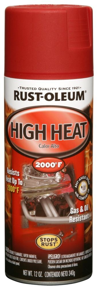 NEW RUst Oleum Spray Paint Automotive Spray Paint High Heat Spray Paint Flat Red #RustOleum