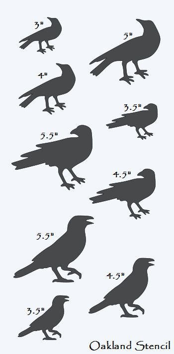Primitive STENCIL with 9 Crows Total 3 different by OaklandStencil, $15.95