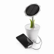 Sunflower brengt zonne-energie naar uw bureautafel met een glimlach! De 2500mAh herlaadbare lithium batterij is krachtig genoeg voor het opladen van uw mobiele telefoon of MP3 speler. De oplader op zonne-energie heeft een USB output en mini-USB input. Inclusief mini USB kabel. Geregistreerd ontwerp®  Producten - weboprom.nl