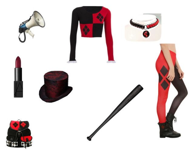 harley quinn by mayleneholm on Polyvore featuring NARS Cosmetics and Elisabeth Weinstock