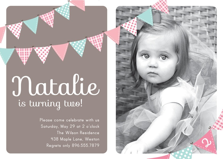 Best Invitaciones Images On Pinterest Cards Events And - Birthday invitation templates for 1 year old