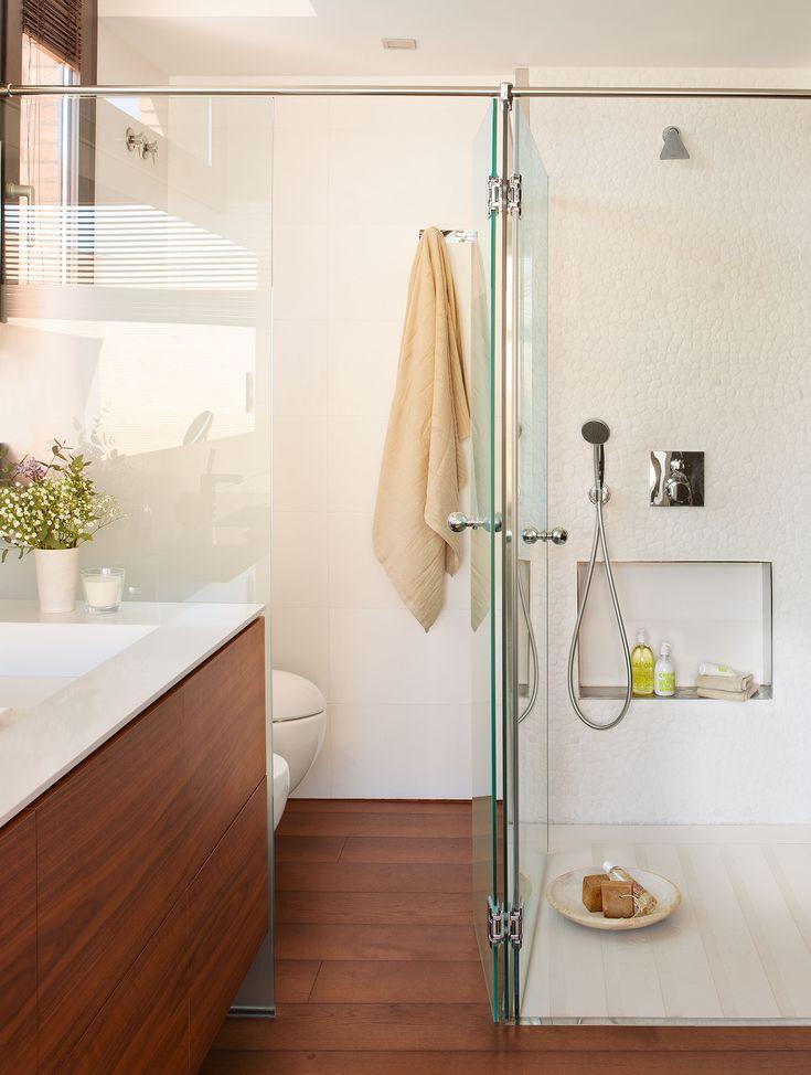 Las 25 mejores ideas sobre ba os de apartamento peque o - Mamparas para banos pequenos ...