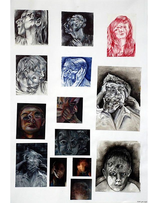 Stunning A Level Art Sketchbook, Preparation and Final Piece