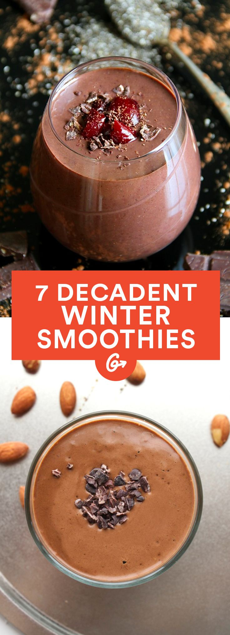 7 Decadent Winter Smoothie You'll Want to Drink Year Round #winter #smoothie #recipes http://greatist.com/eat/winter-smoothie-recipes