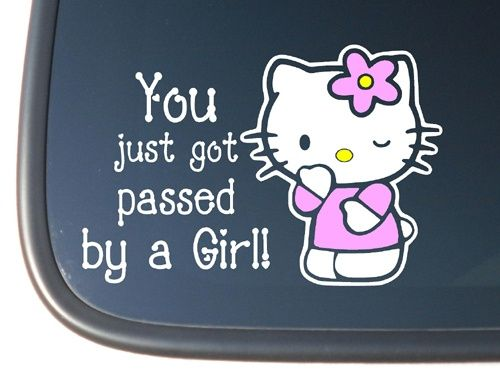 Best HK Images On Pinterest Hello Kitty Stuff Hello - Window decals for cars and trucksbest gambler images on pinterest hello kitty vinyl decals