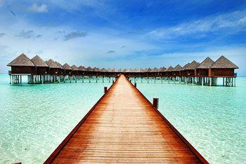 The path to the Bungalows at Maldives Villa Pier 350