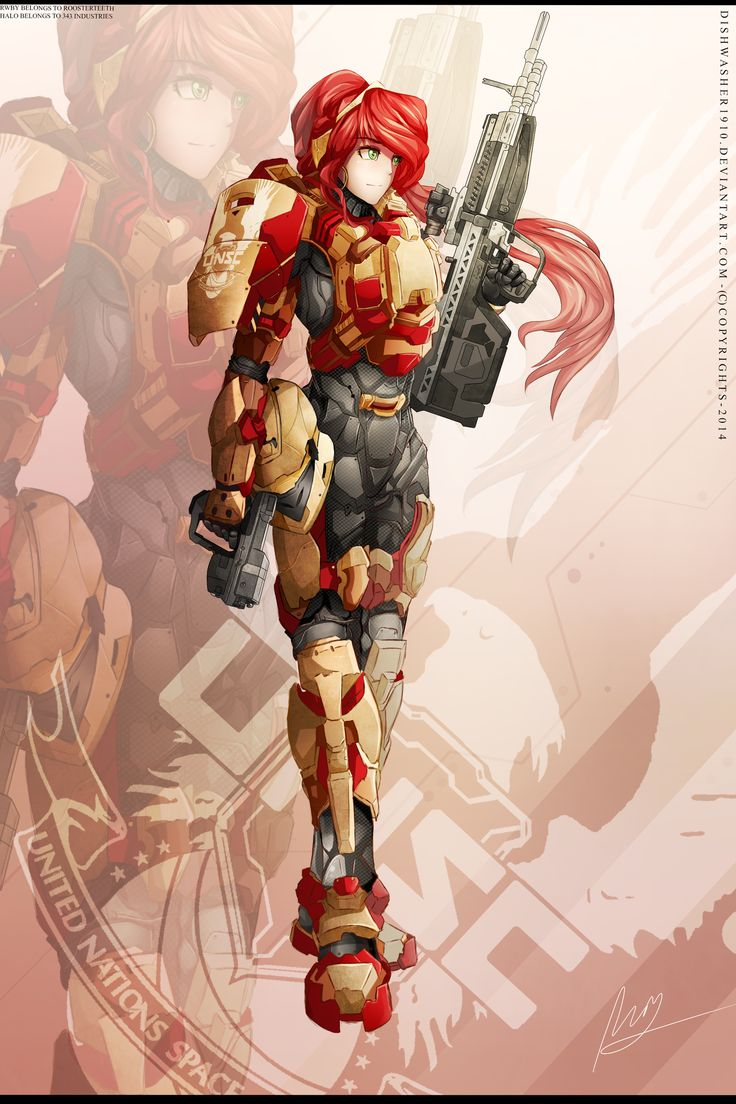 RWBY- Pyrrha Nikos - SPARTAN armour by dishwasher1910.deviantart.com on @DeviantArt