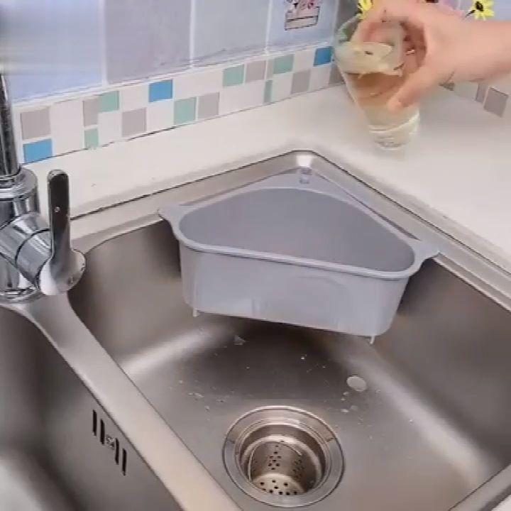Sink Drain Shelf & Kitchen Waste Filter (2Pcs)