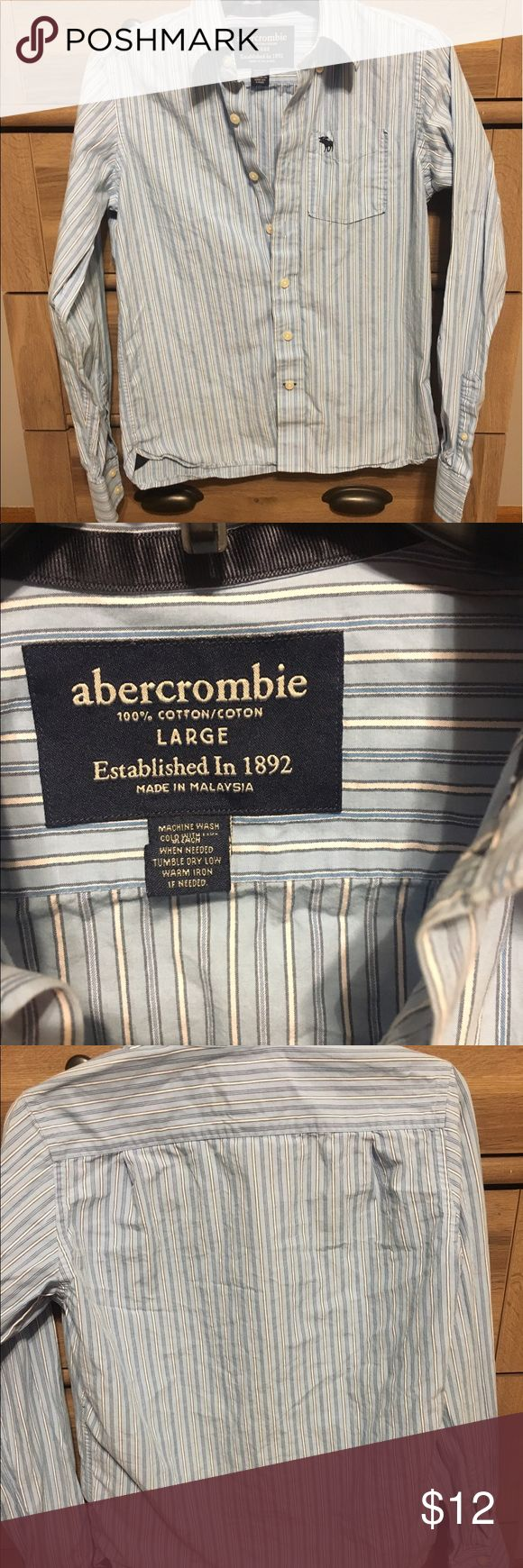 Abercrombie Dress Shirt! Button up Dress Shirt from Abercrombie! Perfect condition! It says it is a large, but definitely looks smaller, more like a medium. Abercrombie Shirts Dress Shirts