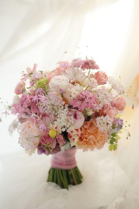花冠 エメ・ヴィベール様へ 秋と桜と涙 : 一会 ウエディングの花