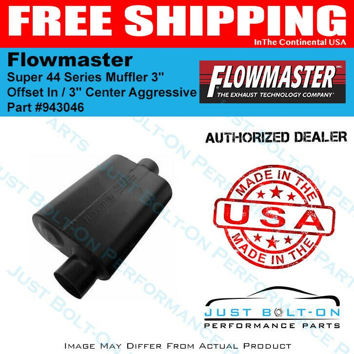 Aggressi 3.00 Offset In Flowmaster Super 44 Series Muffler 3.00 Center Out