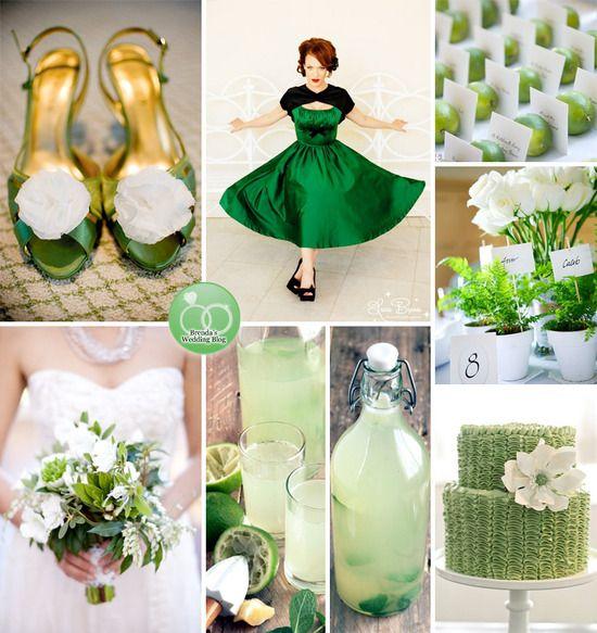 Green Wedding Ideas . . . inspiration board