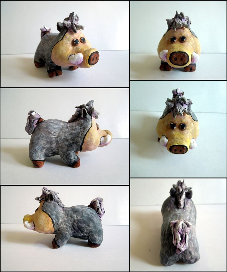Little Wild Boar Figurine by Arferia.deviantart.com on @deviantART