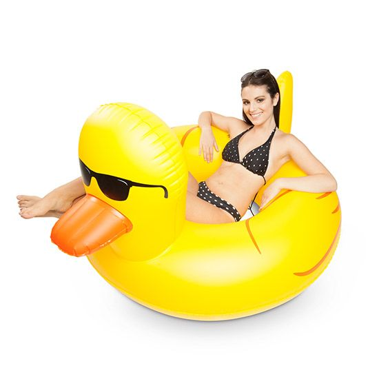 Rubber Duckie you are the one for some summer fun: http://www.dannabananas.com/giant-rubber-duckie-pool-float/