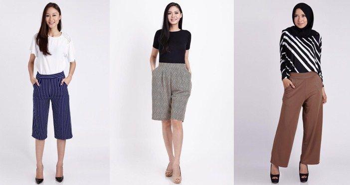 Padu Padan Model Celana Kulot Wanita Terbaru 2016 | Harian Anda