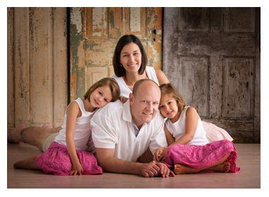 family of 4 portrait