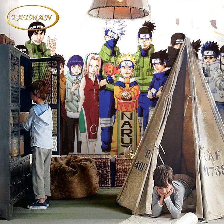 Custom 3D photo wallpaper cartoon Naruto wallpaper mural personalized children room wallpaper for living room papel de parede #Affiliate