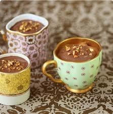 chocolate high tea ideas - chocolate moose in cup