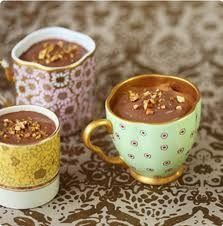 chocolate high tea ideas - chocolate moose in cup
