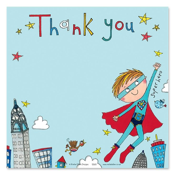 Spectacular Superhero boy would like to thank you all for his birthday presents! Visit Party Ark for fabulous children's invitations and thank you cards.