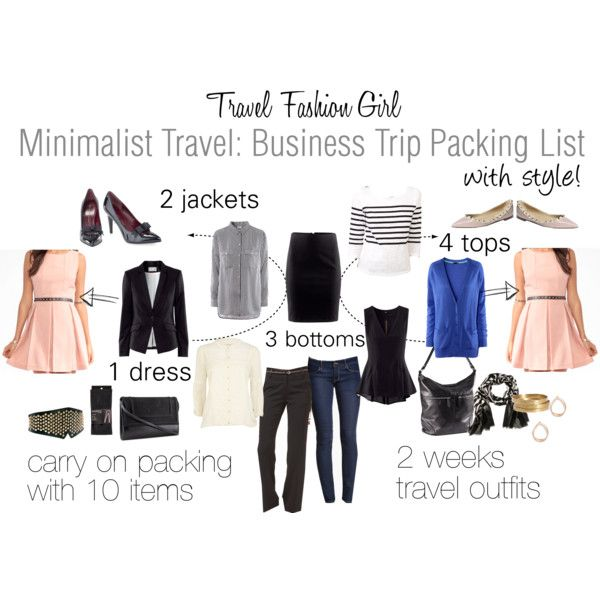 """""""Minimalist Travel: Business Trip Packing List"""" by travelfashiongirl on Polyvore"""