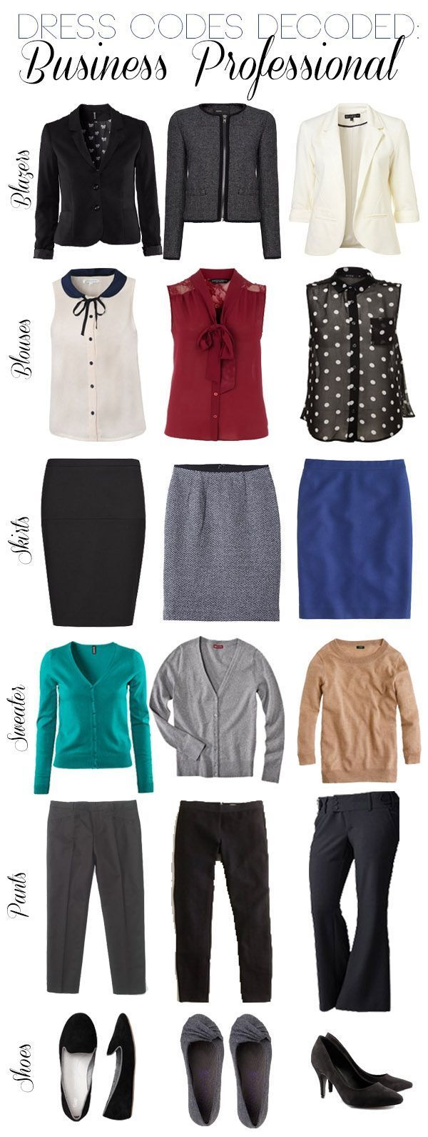 Business Professional clothing to help build a professional wardrobe.